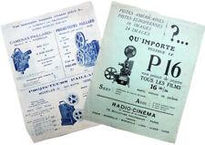 1936 RADIO-CINEMA & PAILLARD  Deux Documents publicitaires  constructeurs