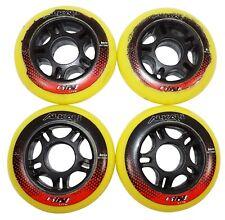 One Set - 4 Alkali Wheels Rpd Lite Inline Roller Outdoor Hockey 80Mm 82A Wheels