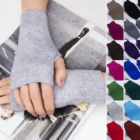 1 Pair Unisex Cashmere Fingerless Warm Winter Gloves Hand Warmer Mittens AU