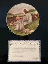 **NEW IN BOX** The Lord's My Shepherd W.S. George Collectors Plate Cicely Barker