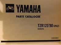 YAMAHA TZR 125 1990 3PA2 PARTS LIST MANUAL CATALOGUE RD125 1990 YPVS