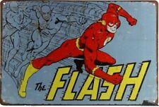Targa the flash superhero stampa metallo retrò pub bar poster arredo