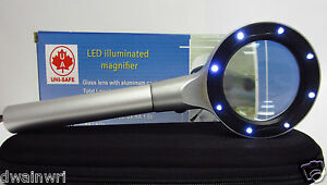 Uni-Safe 3.2X Jumbo LED32J Illuminated Magnifier with 8 LEDS, 55mm Lens-  $39.95