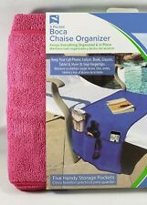 O2Cool Boca Chaise Organizer For Sunscreen Tablet 5 Pockets Microfiber Pink