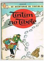 Tintin Album Portuguese Brazilian Comics 1970 Tintim no Tibete Hergé RARE