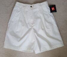 VINTAGE NWT WOMEN'S NIKE WHITE SPORT SHORTS TENNIS SIZE 8 WITH POCKETS