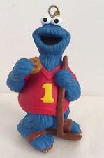 Cookie Monster On Ice Skates Sesame Street Ornament 3 3/4 Inch J.H.P. Plastic