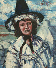 Hepson - 1963 Oil, The Welsh Lady