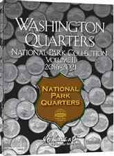 National Park Quarter Coin Folder  Album P&D, Vol. II, 2016-2021 by H.E. Harris