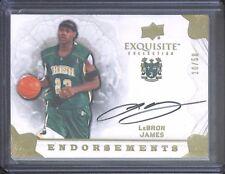 2011-12 Upper Deck Exquisite Endorsements Autograph #EE-JS LeBron James 10 of 50