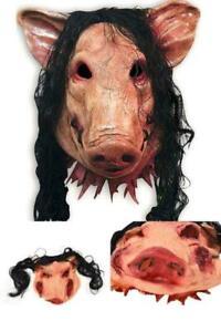 1PC Saw Pig Head Scary Masks Novelty Halloween Mask With Hair Halloween maske