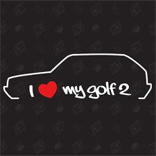 Amo mio VW Golf 2 Modello MK2 Tuning Adesivo,Auto Ventilatore adesivo,Car