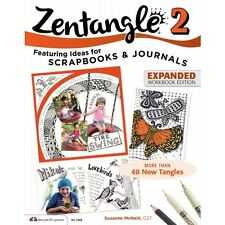 Zentangle 2 Expanded Workbook Edition BY Suzanne Mcneill - COLOURING BOOK