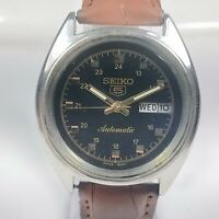 Vintage Seiko Automatic Movement Day Date Dial Mens Wrist Watch C135