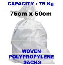 More details for white woven heavy duty rubble sacks/bags builders bags postal superior quality