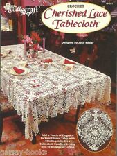 Cherished Lace Tablecloth Thread Crochet Pattern Instructions Josie Rabier NEW