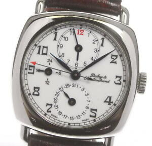 DUBEY & SCHALDENBRAND Diplomatic Date white Dial Automatic Men's Watch_606703