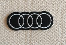 Patch Toppa Brand Logo Auto Audi Stemma Marchio Ricamata Termoadesiva 8,3x3,3cm