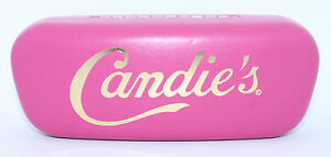 Authentic CANDIES New PINK Eyeglasses HARD CLAM CASE