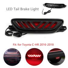 LED Rear Bumper 3rd Brake Light Red DRL Driving Fog Tail Fit For Toyota C-HR 12V