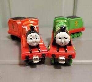 Thomas & Friends Take N Play Die Cast Metal Train James Henry w Tender 2002 Lot