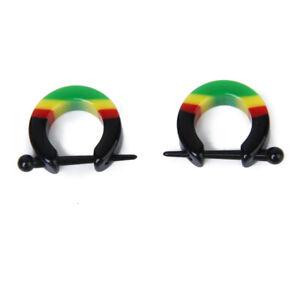 Pair Acrylic Men Women Huggie Hoop Stud Earrings Gift Nose Nipple Lip Piercing