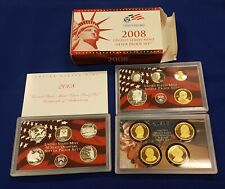 SILVER Proof Set 2008-s U.S Mint Made in Red Mint Box with COA U.S