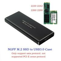 USB3.0 HDD Hard Drive M.2 TO USB SSD SATA High Speed Mobile Disk Box Cases