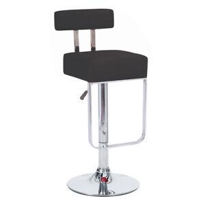 "Modern Home ""Leather"" Adjustable Height Chrome Bar/Counter Stool - Blok Barstool"