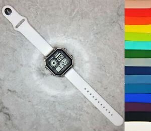 Casio Time Zone Watch with Quick-release Silicone straps, 15 colour options