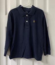 Boys Gap Long Sleeve Polo Uniform Shirt Blue Size: 5 Year