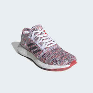 adidas PureBoost GO Running Shoes Shock Red B75829 Women's US Size 9