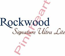 Rockwood Signature ultra lite front decal Rv camper decals graphics sticker USA