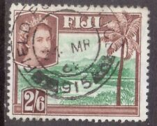 """FIJI  ARMY  FPO  POSTMARK / CANCEL  """"FIELD POST OFFICE  915""""  1961  on 2/6 stamp"""