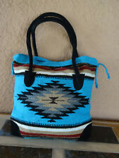 Monterey Tote Bag OPMONT-D Handwoven Southwestern Southwest  Bag with closure