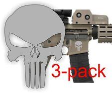 3 ~ AR15 Lower Decals  Punisher AR-15 Gun MAG 5.56 Magazine Stickers Black Ops