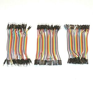 Dupont Cable Jumper Wire 10 cm 120pcs FM FF MM for Breadboard Arduino