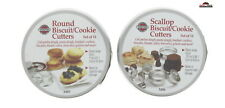 Cookie Biscuit Cutter Set Scalloped Rippled ~ Round ~ Pastry ~ New