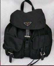 Authentic Prada Vela Black Nylon Mini Backpack  Used