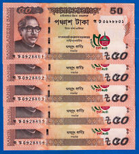 NEW! 5 Note 50 Taka-Currency Notes-2021-UNC-50 Year Independence