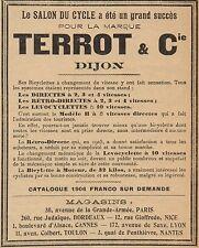 Y8142 Bicyclette à moteur TERROT - Pubblicità d'epoca - 1906 Old advertising