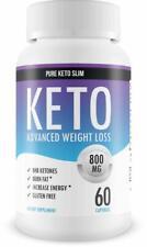 60 Pure Keto Slim - Keto Diet Pills - Exogenous Ketones Help Burn Fat - Weight