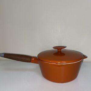 COPCO 2Qt Enamel Cast iron Sauce Pan Michael Lax Design Orange