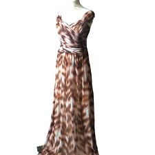 Project D Danni Minogue Silk Chiffon Long Crossover Dress Animal Print £650