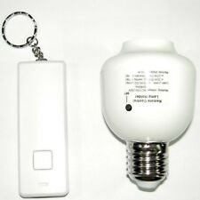 E27 10M Wireless Remote Control Screw Light Lamp Bulb Holder Socket Switch