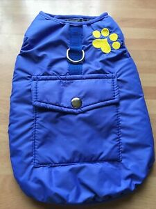 Pet Dog Puppy Coat Jacket Sports Wear Gilet GILLET - BLUE - SIZE: MEDIUM - NEW