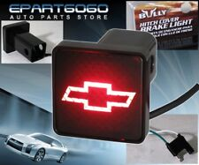 """Bully Rear 2"""" Trailer Towing Hitch Receiver Cover Logo Brake Light For """"Chevy"""""""