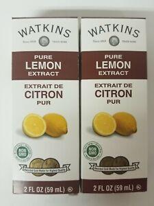 (2 Pack) Watkins Pure Lemon Extract. NON GMO 2 oz exp. 01/2024