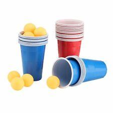 48-tlg. Bier Beer Pong Set Trinkspiel Partyspiel Saufspiel Becher Bälle