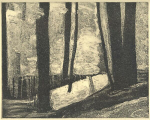 TRAIL MORNING original aquatint etching